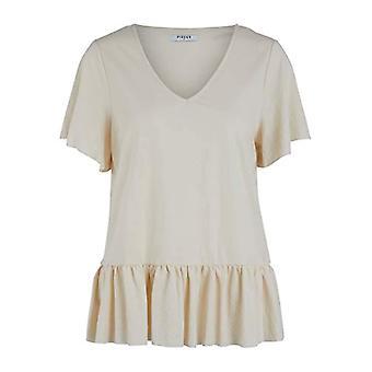 PIECES Pcalura SS Top T-Shirt, Whitecap Grey, M Woman