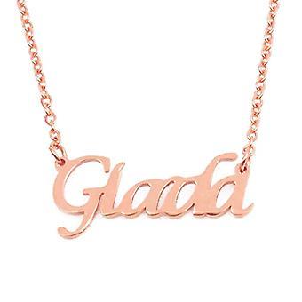 KL Kigu Giada - Kvinders halskæde med navn, rosa guld, med navn, moderigtigt, gave til kæreste, mor, søster