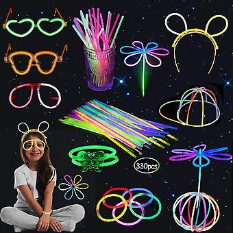 FengChun Knicklichter Party Set, 330 stuck Farbmix Knicklichter Leuchten, Partylichter