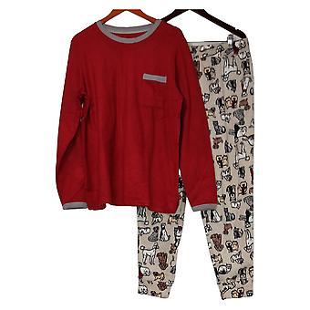 Cuddl Duds Set Stretch Jogger Pajama Set Red