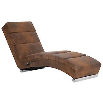 vidaXL massage chaise longue Brun En daigneur