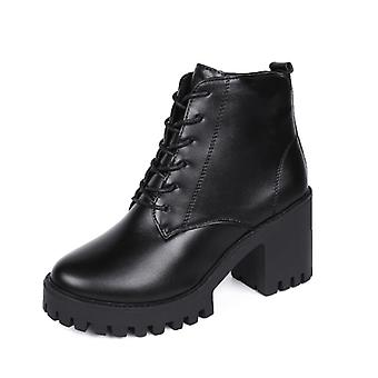 Vintage British-style Lace-ups Go With Martin Boots