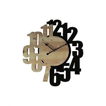 Rebecca Möbler snidade klocka vägg klockor Mdf Brun Svart 56.5x4.5x50