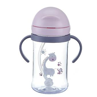 250/300ml Drink Cup Children Cartoon Infant Straw Cup Baby Handle Resistant Falling Water Bottle