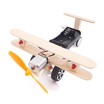 Double Lantern Electric Taxiing Aircraft DIY Aircraft Experimental Model Science Toys