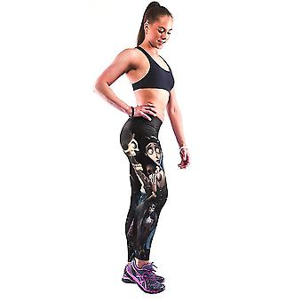 Damen Yoga Workout Gym Digitaldruck Sporthose Fitness Stretch Hose