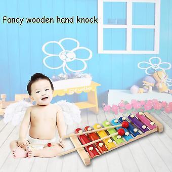 Χέρι χτύπημα ξύλο πιάνο παιδιά παιχνιδιών Xylophone μουσική ρυθμό μάθετε εκ των προτέρων