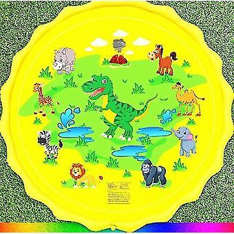Pvc Toy Víz Spray Pad és nyári gyep játék (Sárga Dinoszaurusz)