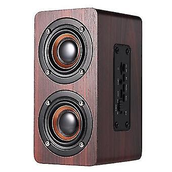 W5 Red Wood Grain Speaker BT 4.2 Escuro