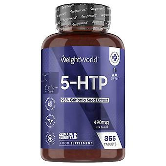 5HTP Tablets - Wellness Supplement - 365 Tablets
