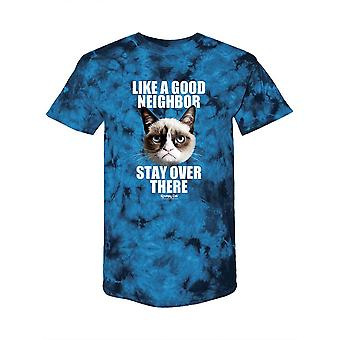 Stay Over There. Grumpy Cat Tie-Dye Crystal -