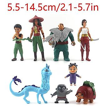 8pcs Raya And The Last Dragon Action Figure Kids Toy