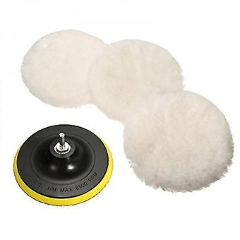 5 Packs Of Wool Polishing Pads Suitable For Car Wash Brushes