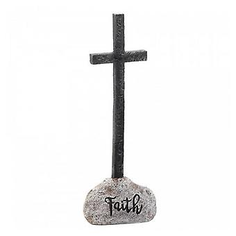Wings of Devotion Stone and Cross Figurine - Faith, Pack of 1