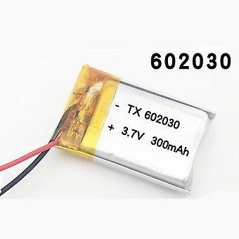 300mah 3.7v 602030 polimer újratölthető akkumulátor