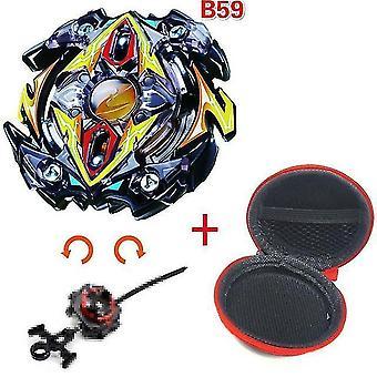 5 + Beyblade Burst Funken Turbo b48 Werfer, Metall Top Gyro Blade Klinge Spinning Kampf Spielzeug (B59)
