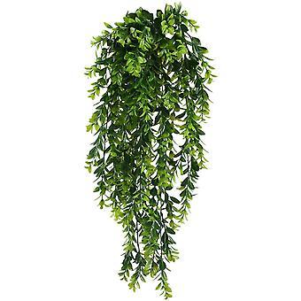 2pcs künstliche Pflanzen gefälschte hängende Pflanzen Faux Laub Grünpflanze
