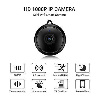 ミニ無線LAN IPカメラHD 1080pワイヤレス屋内カメラナイトビジョン双方向オーディオモーション検出ベビーモニター