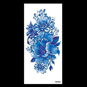 Beauté 1 Pcs Maquillage Faux Tatouages Temporaires Autocollants Fleurs Roses Bras Épaule Tatouage Imperméable Femmes Big Flash Tatouage Sur le Corps