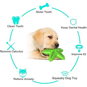 Dog Toys For Aggressive Chewers Dog Teeth Cleaning Toy Indestructible Dog Toys Aggressive Chew Toys For Small Medium Large Dogs (green, Starfish)