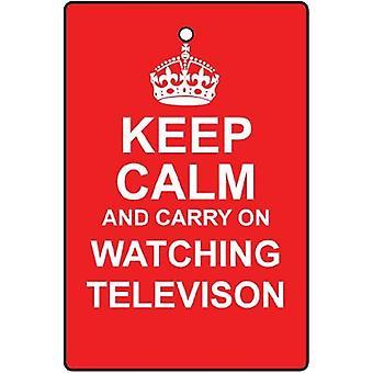 Bewahren Sie Ruhe und beobachten Sie TV Auto-Lufterfrischer