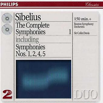Davis/Boston Symphony Orch. - Sibelius the Complete Symphonies [CD] USA import