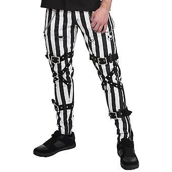 Dead Threads Striped Chains & Straps Trousers