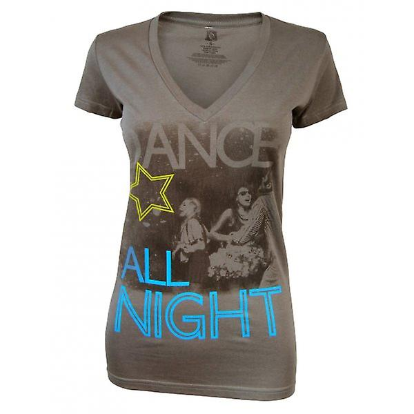 Senhoras de congelamento dançar toda noite T Shirt, carvão