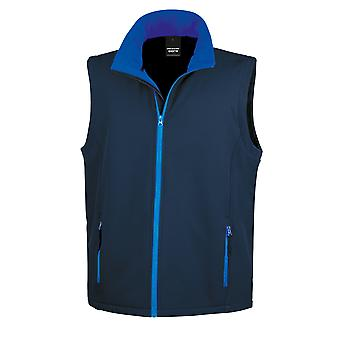 Result Mens Core Printable Softshell Bodywarmer