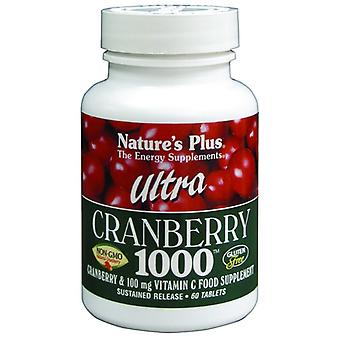 Natures Plus ULTRA CRANBERRY 1000 MG TABLETS 60