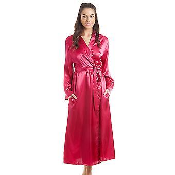 Camille Womens Fuscia lusso rosa vestaglia in raso