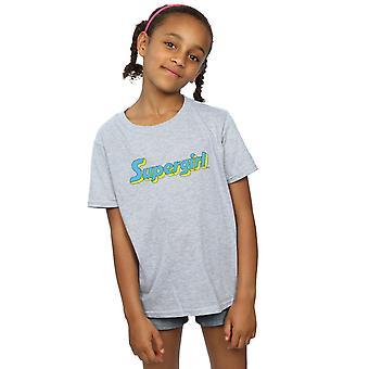 DC Comics jenter Supergirl tekst Logo t-skjorte