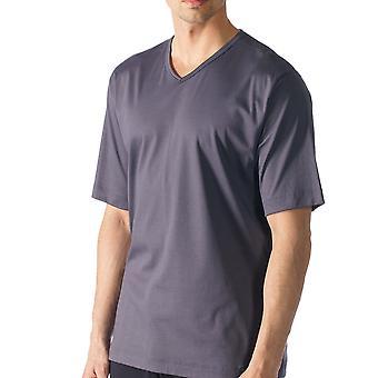 Mey 20710 697 miesten Lounge harmaa yksivärisiä Pajama Pyjama huipputason