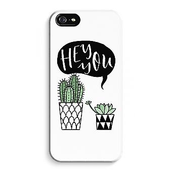 iPhone 5 / 5S / SE Full Print Case (Glossy) - Hey you cactus