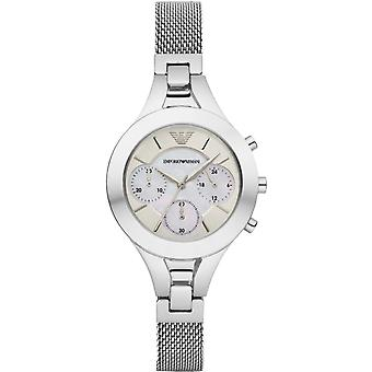 Emporio Armani Womens Ladies chronographe Wrist Watch acier inoxydable AR7389