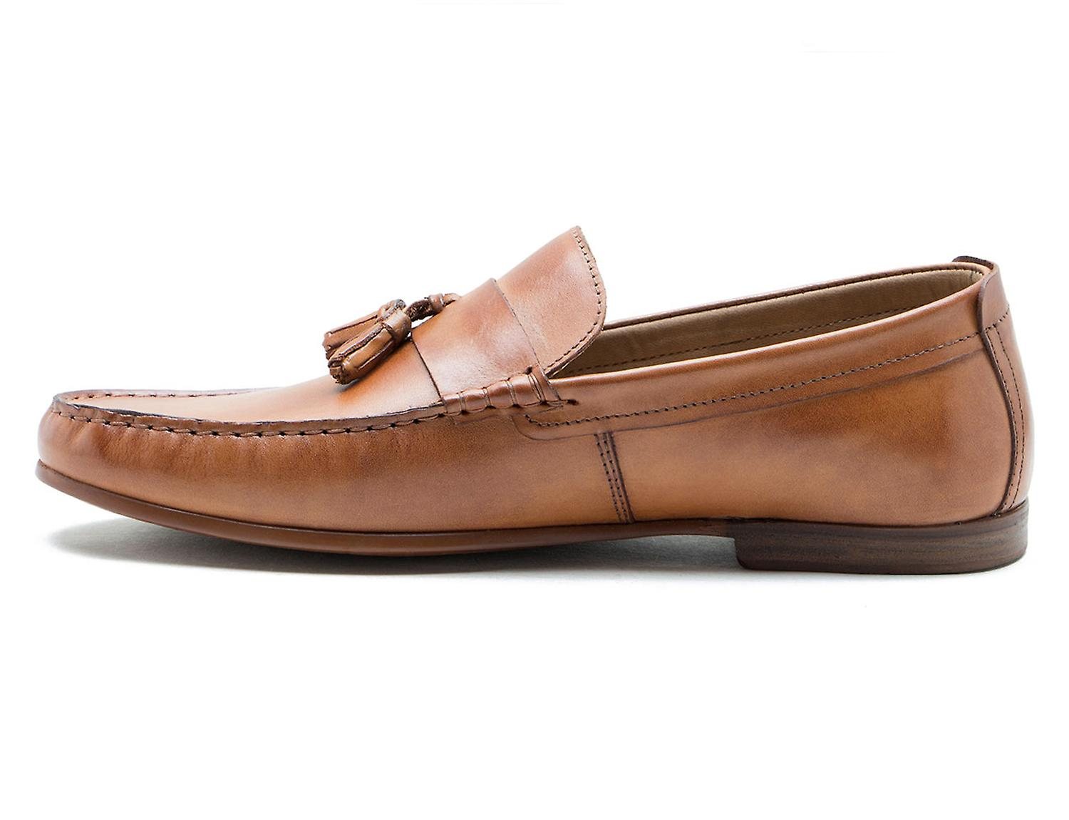 Red Tape Elvaston Tan Leather Loafers Driving Shoes