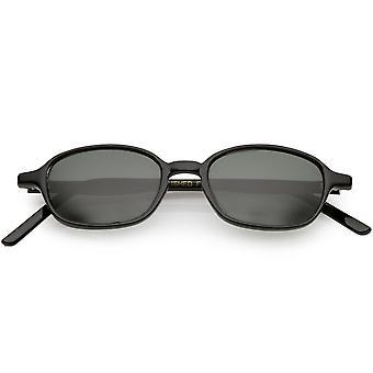 Echte Vintage Horn umrandeten quadratische Sonnenbrille schlanke Arme 45mm