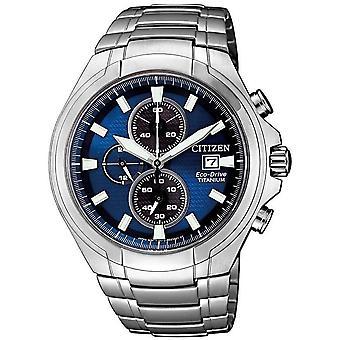 Citizen mens watch eco-drive titanium chronograph CA0700-86 L