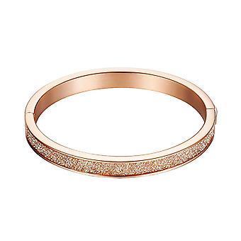 Esprit Damen Armband Armreif Edelstahl rosé Dazzel ESBA11115A600
