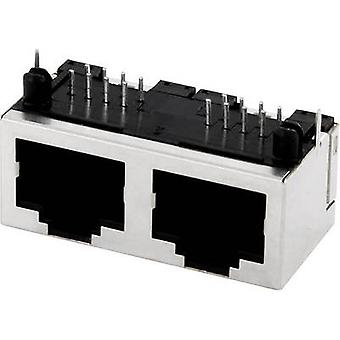 Multi-port 2xRJ45 Socket, horisontale mount MPU288A Metal econ forbinde MPU288A 1 computer(e)