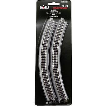 7078103 N Kato Unitrack Curve 45 ° 315 mm