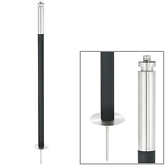 Garden torch stainless steel matt with earth skewer