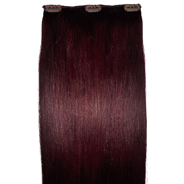 #99J acajou - Rouge Intense - a clips cheveux pièce - 99j # - acajou