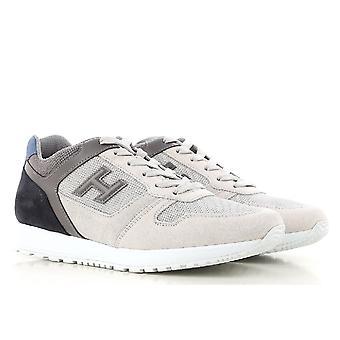 أحذية أحذية هوجان رجالية في الرمادي والبيض والجلود