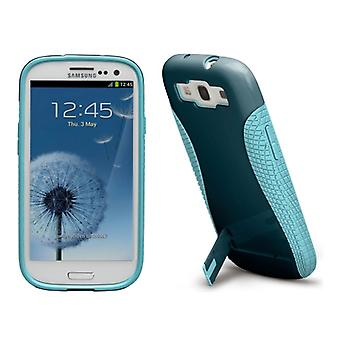 Case-Mate Pop! 2 Case for Samsung Galaxy S3 with Stand (Navy/Aqua)