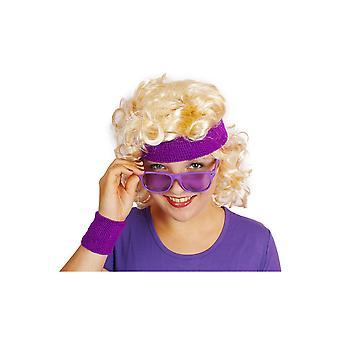 Occhiali viola 80s occhiali