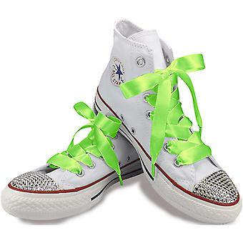 Key Lime Green Satin Laces