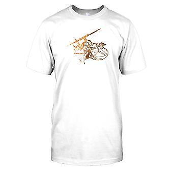 Airwolf Bell 222-Diagram - Cool 80s TV Mens T Shirt