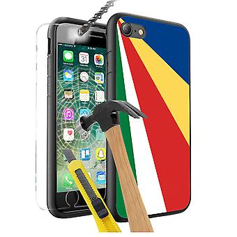 For Samsung Galaxy Note 9 - Seychelles Flag Design Printed Black Case Skin Cover with Tempered Glass - 0155 by i-Tronixs