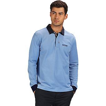 Regata Mens Panos manga longa Jersey gola Polo camisa